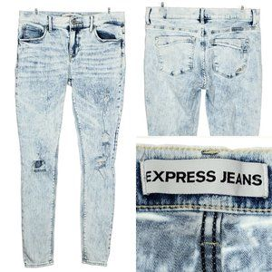 EXPRESS JEANS Denim Legging Mid Rise Distressed